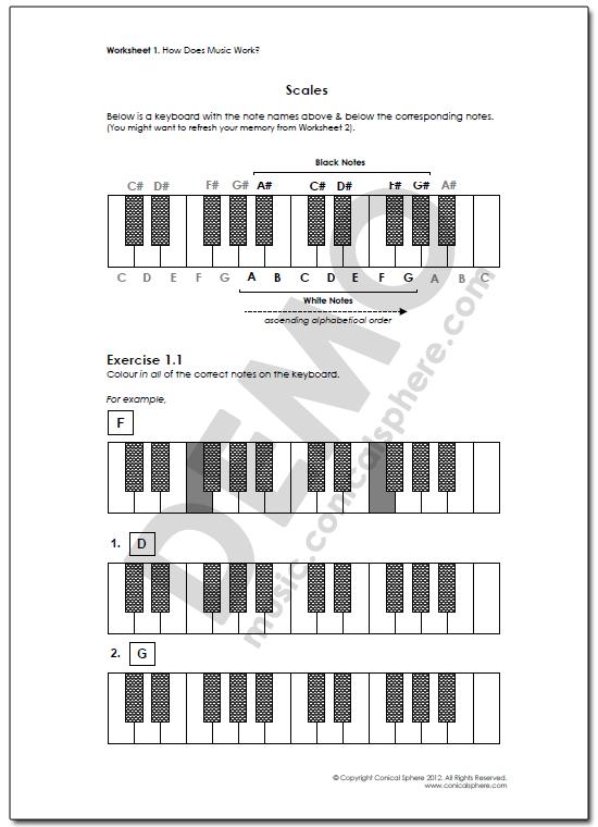 Scales 1 Page 1 Worksheet 2