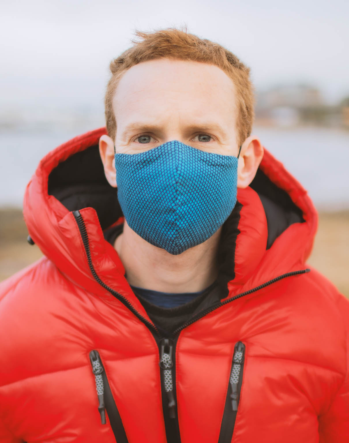 Stylish Teal Face Mask