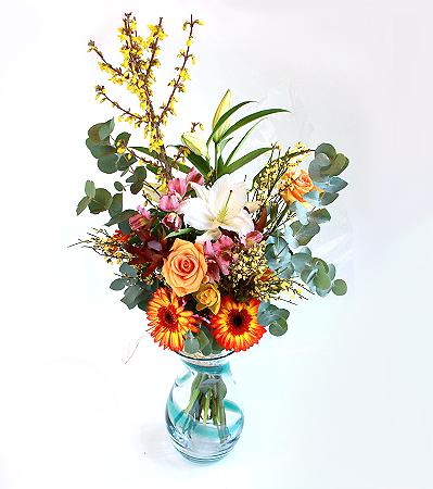Bright Roses, Lily & Gerberas