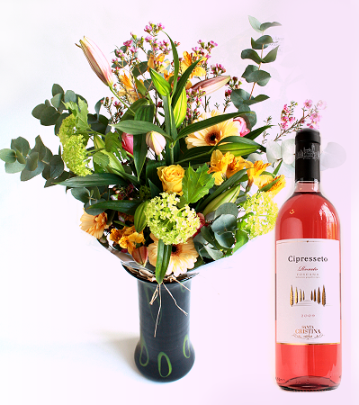 Conical sphere shop flowers gifts large summer for Bouquet de fleurs wine
