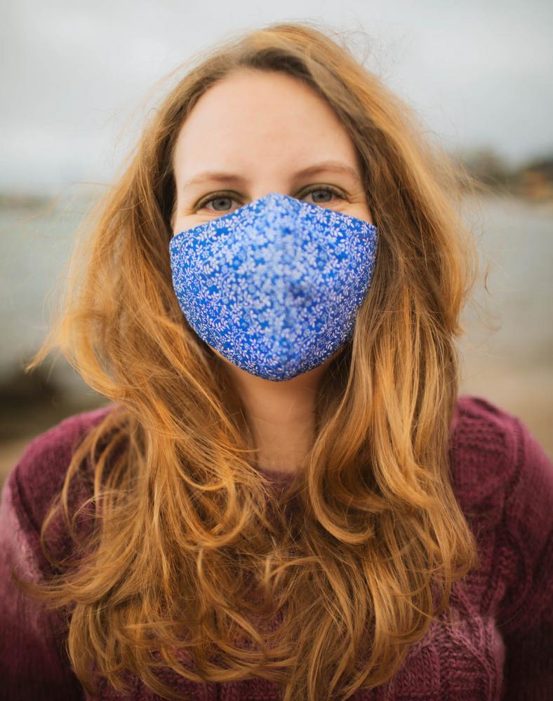 Blue Leaves Face Mask