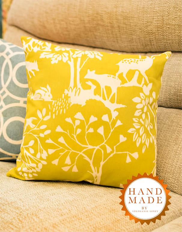 Chartreuse Woodland Cushion