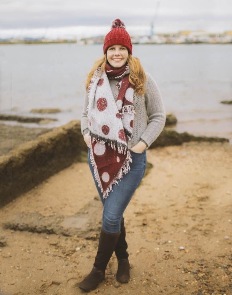 Red Sky Wrap Scarf