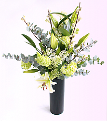 Lily and Eucalyptus Bouquet