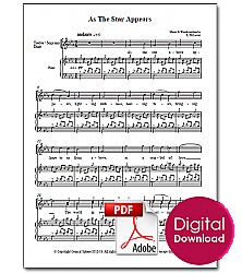 As The Star Appears (Score)