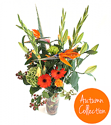 Bird Of Paradise Autumn Bouquet