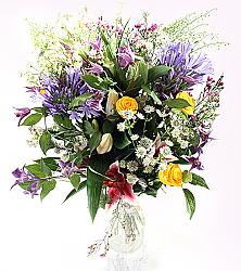 Extravagant Vibrant Rose Bouquet